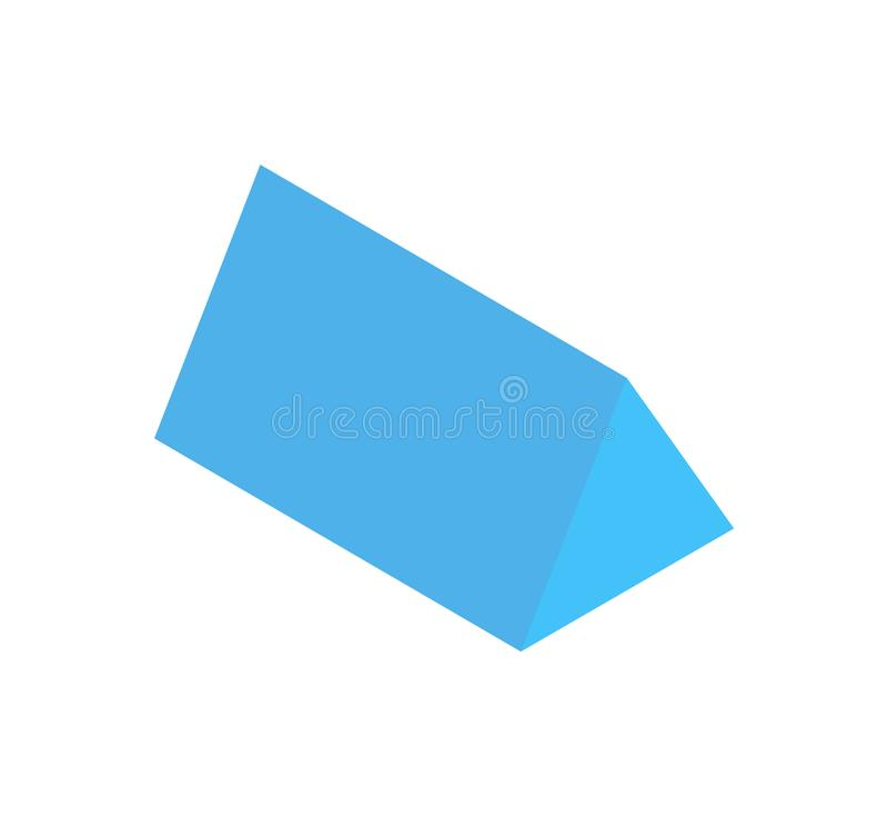 三棱柱,垂直的几何图横幅 库存例证