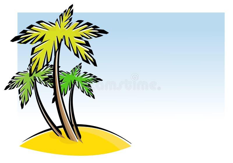 三棵棕榈树 皇族释放例证