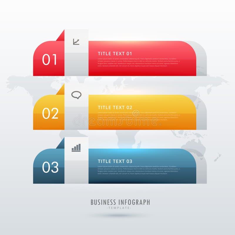 三步企业infographic设计模板 库存例证
