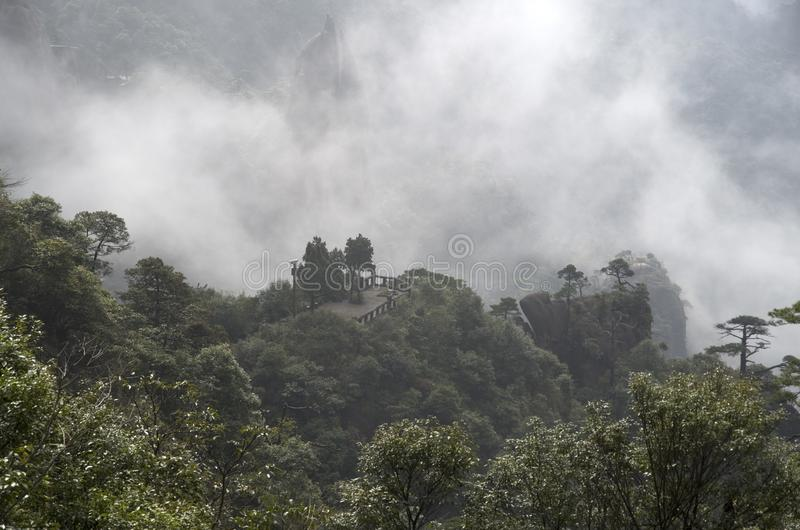 三清山山Mt三清中国 免版税库存图片