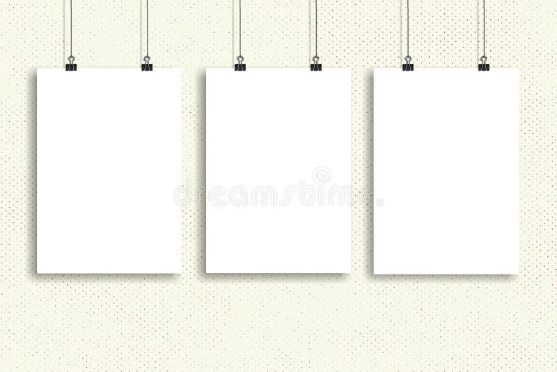 三白皮书海报嘲笑,墙壁嘲笑 图库摄影