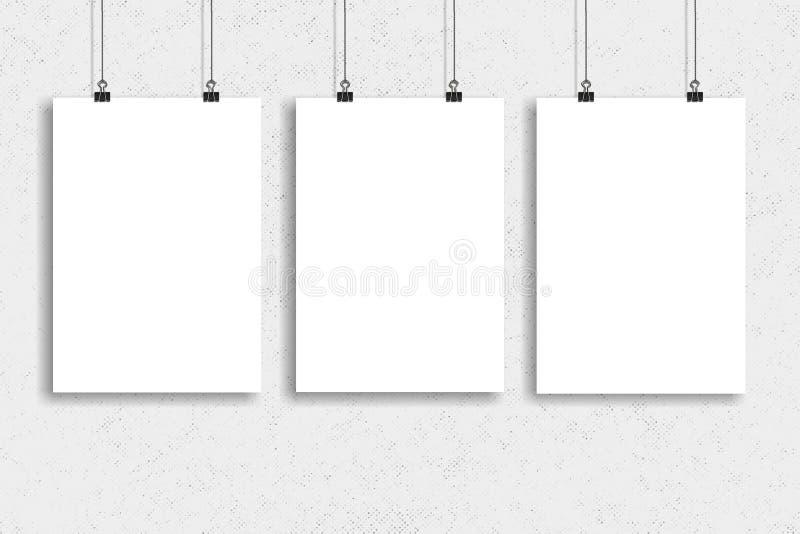 三白皮书海报嘲笑,墙壁嘲笑 库存照片