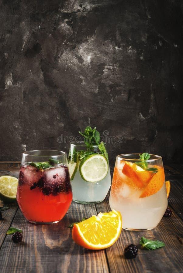三的选择杜松子酒补品 库存照片