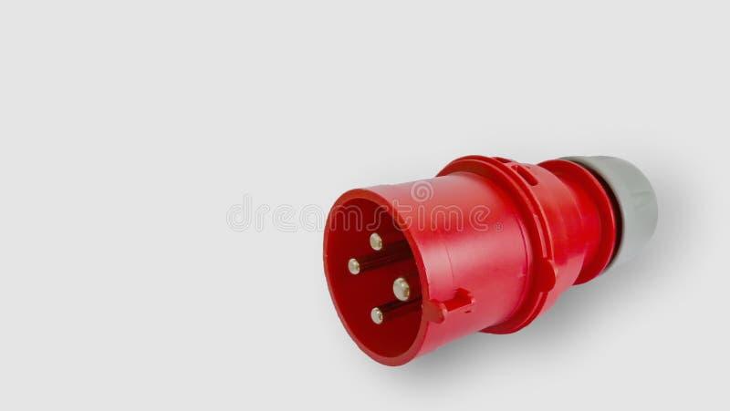 三相插座的力量-储蓄图象 缆绳,电动元件,输电线,波兰,电火花塞 库存照片