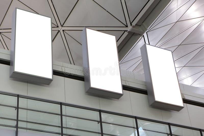 三空的广告牌 免版税库存照片