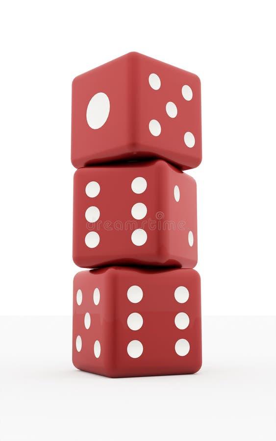 三红色切成小方块  向量例证