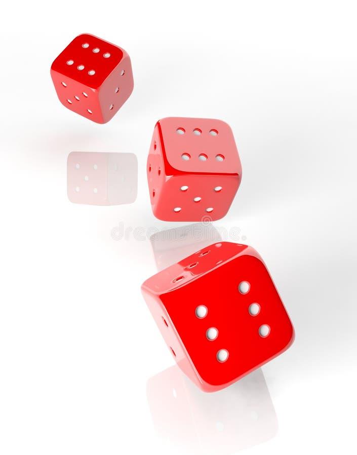 三红色切成小方块 皇族释放例证