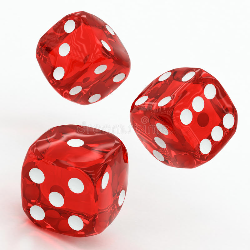 三红色把落切成小方块 库存例证