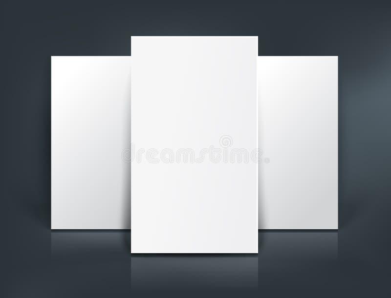 三纸板料大模型 也corel凹道例证向量 库存例证