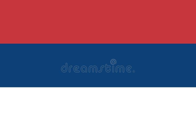 三色的塞尔维亚的民事旗子-, 向量例证