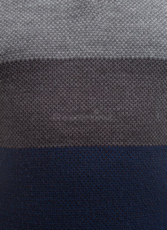 三色的毛线衣特写镜头  免版税图库摄影