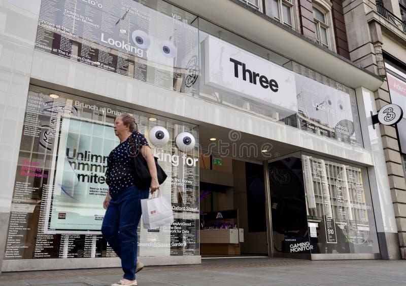 三英国商店在伦敦 库存图片