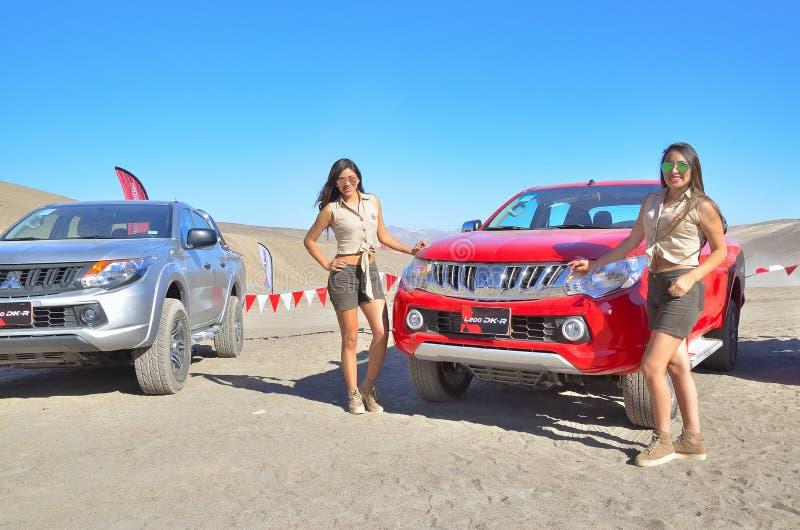 三菱l200 4x4车介绍秘鲁 免版税图库摄影