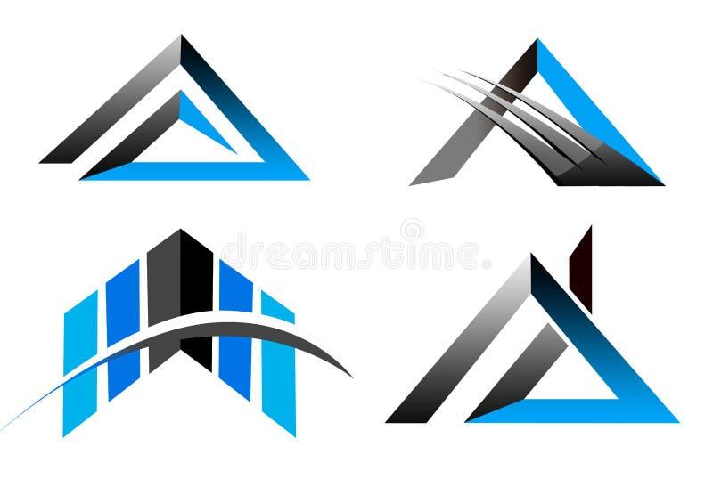 三角企业商标 皇族释放例证