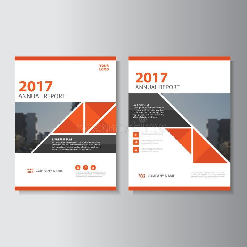 三角传染媒介年终报告传单小册子飞行物模板设计,书套布局设计,抽象介绍模板 向量例证