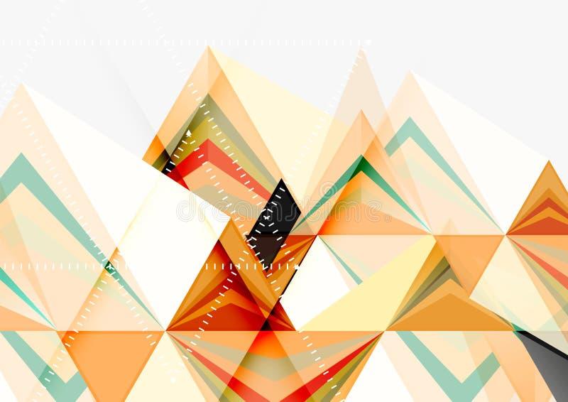 三角低多传染媒介a4大小几何抽象模板 向量例证