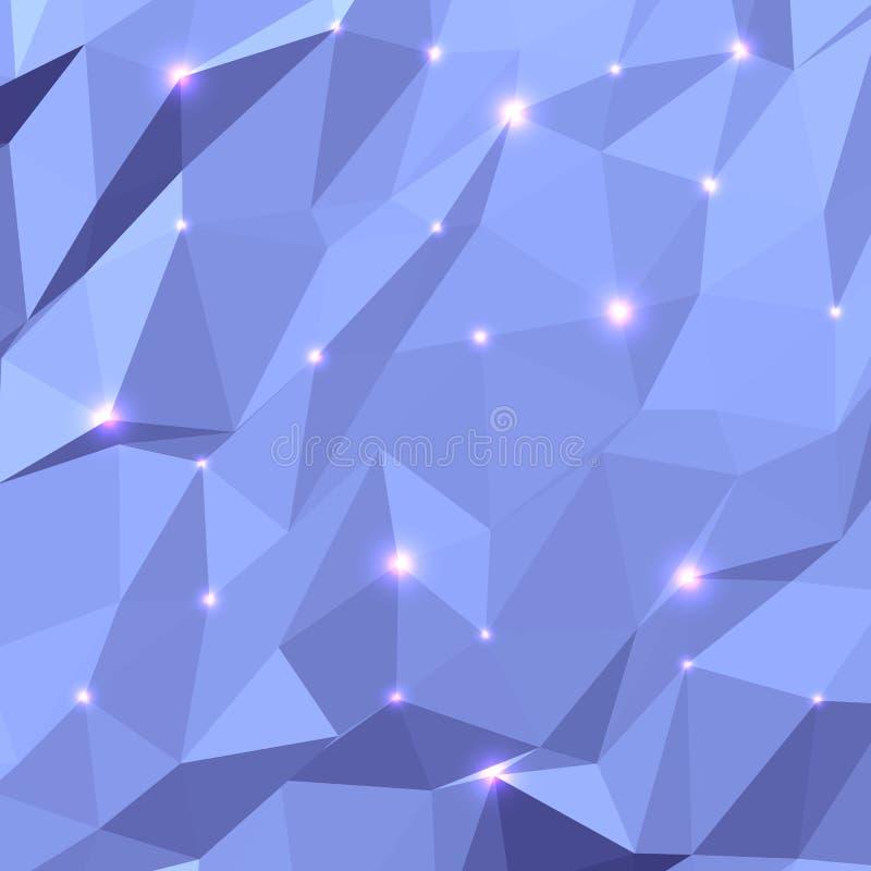 三角几何背景 皇族释放例证