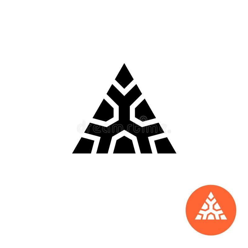 三角古老部族样式商标 巨大的强的标志 库存例证