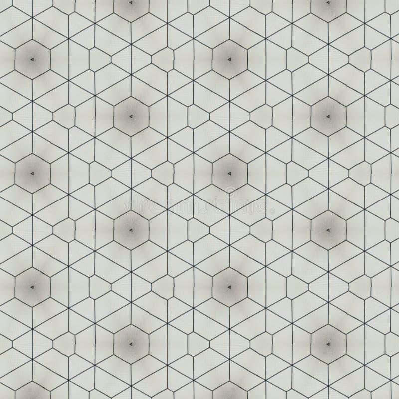三角和六角形几何样式背景设计 皇族释放例证