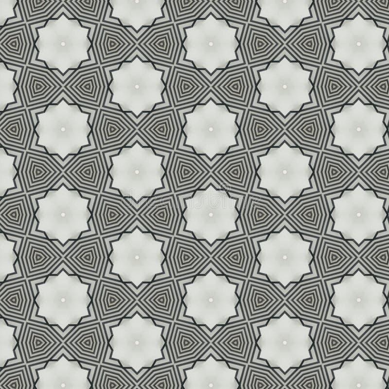 三角和六角形几何样式背景设计 库存例证