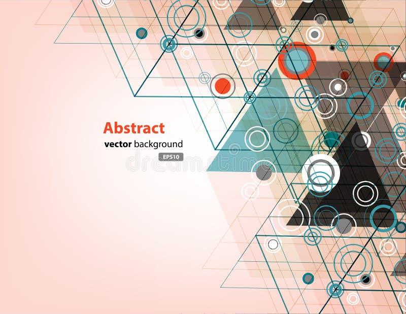 三角和圈子技术抽象传染媒介背景  皇族释放例证