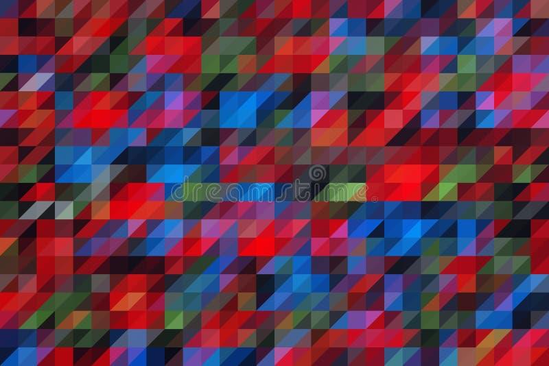 与马赛克作用的多彩多姿的抽象背景 库存照片