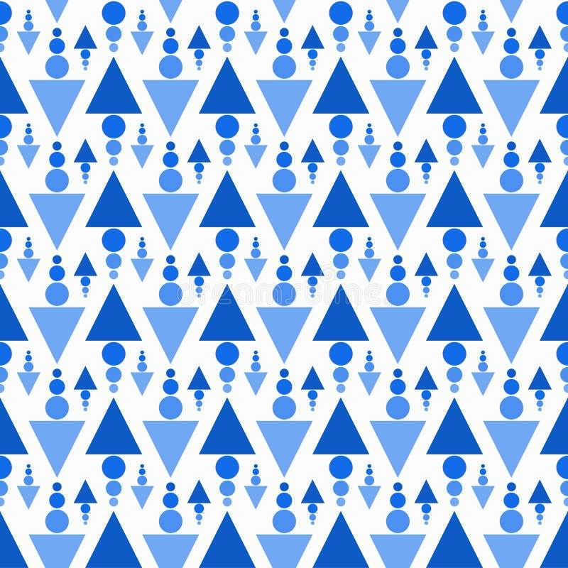 三角和球无缝的样式 皇族释放例证