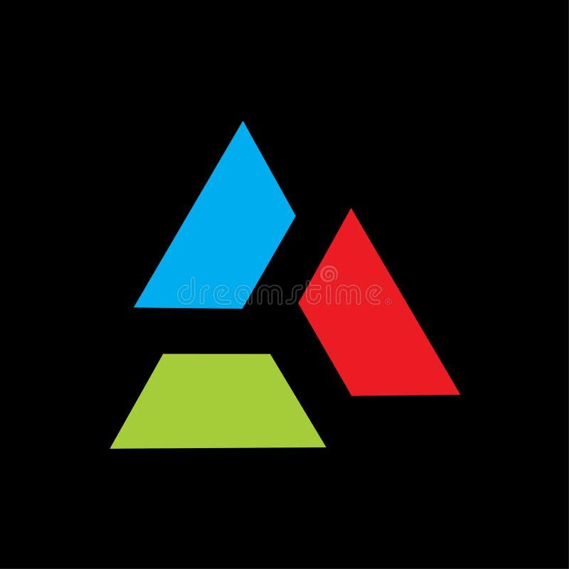 三角商标传染媒介五颜六色的抽象模板 向量例证