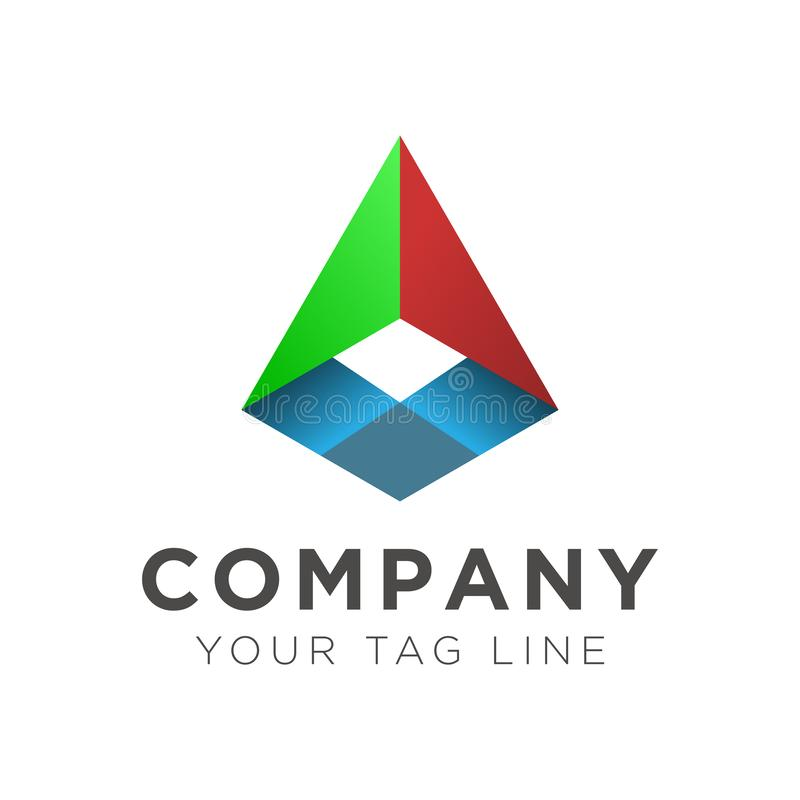 三角商标概念的例证 向量例证