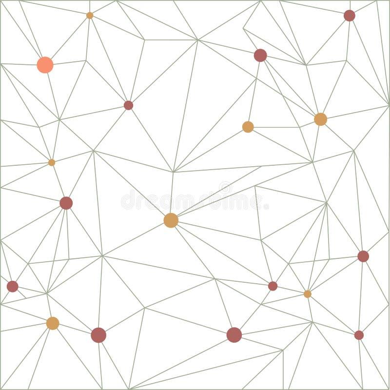 三角在线的样式背景 五颜六色的马赛克横幅 库存例证