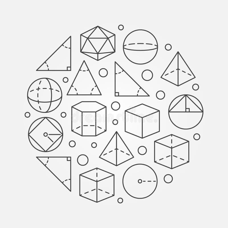 三角学和几何例证 皇族释放例证