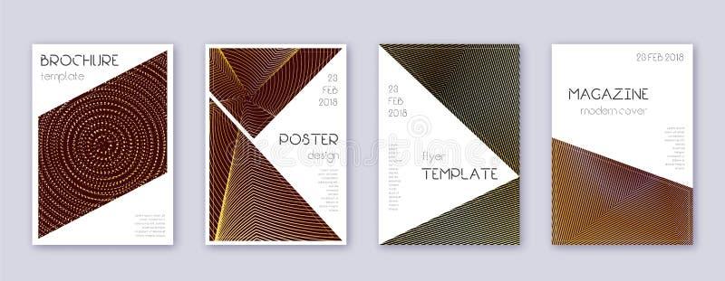 三角形手册设计模板集 金摘 向量例证
