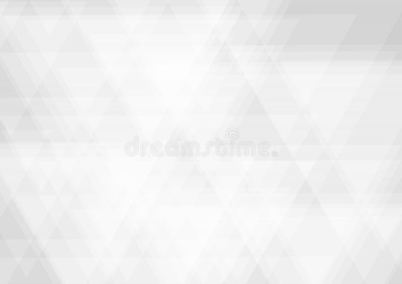 三角形状白色和灰色几何是交叠现代设计,传染媒介抽象背景 皇族释放例证