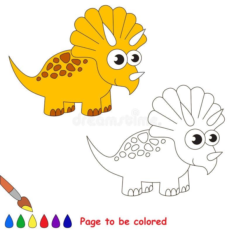 三角恐龙动画片 将上色的页图片