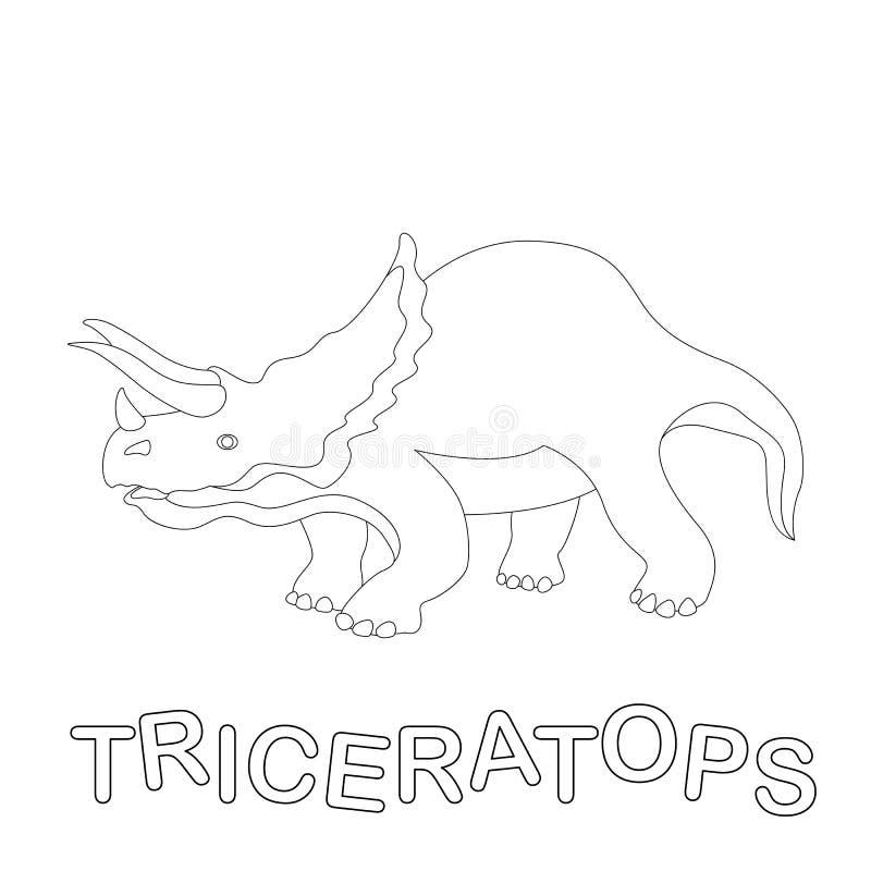 三角恐龙恐龙传染媒介例证彩图外形 库存例证