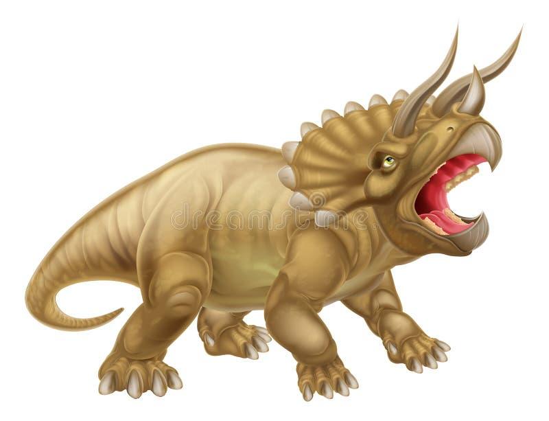 三角恐龙恐龙例证 皇族释放例证