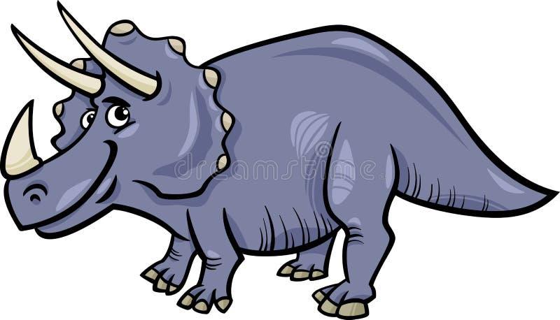 三角恐龙恐龙动画片例证 皇族释放例证