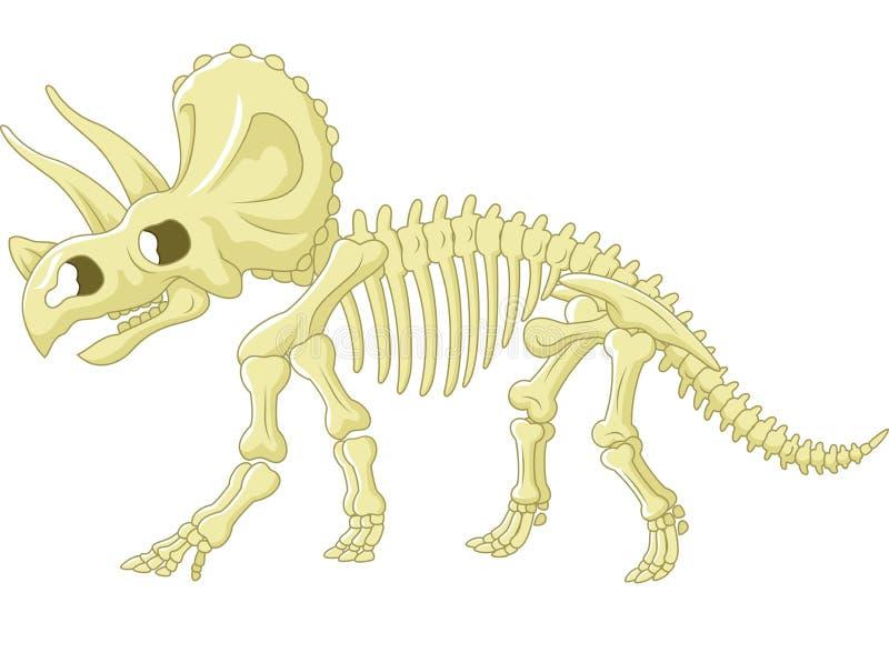 三角恐龙骨骼 向量例证