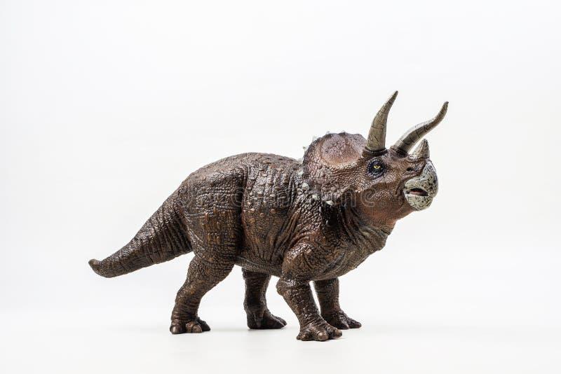 三角恐龙,在白色背景的恐龙 免版税库存图片