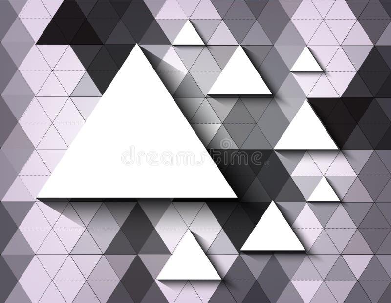 三角技术抽象传染媒介背景  库存例证