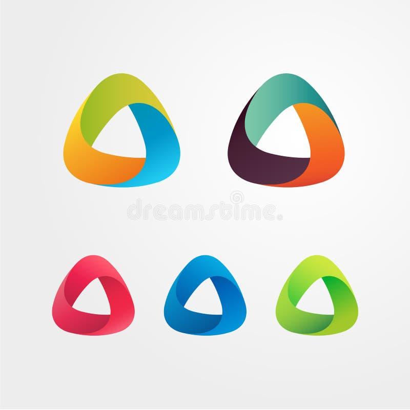 三角抽象商标集合 向量例证