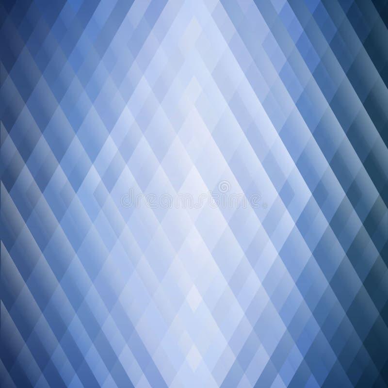 三角摘要蓝色几何背景  对称形状五颜六色的马赛克  软的颜色口气和gra 库存例证