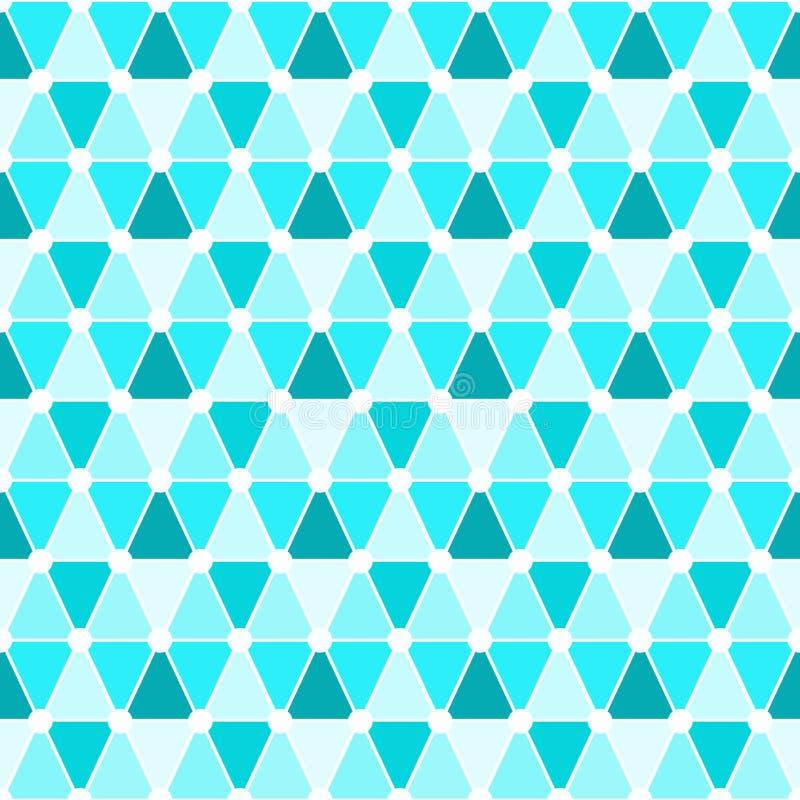 三角无缝的样式背景 向量例证