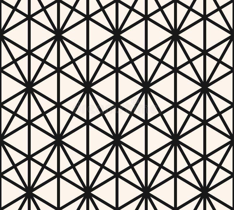 三角无缝的样式 传染媒介摘要黑白几何纹理 皇族释放例证