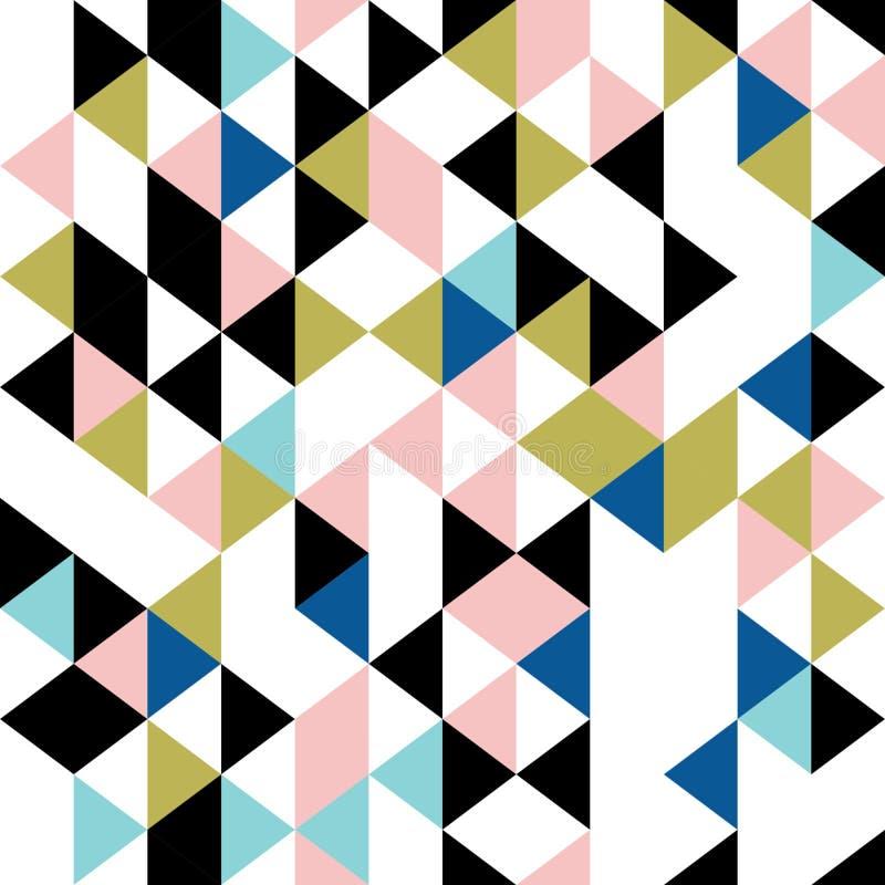 三角无缝的模式 向量例证