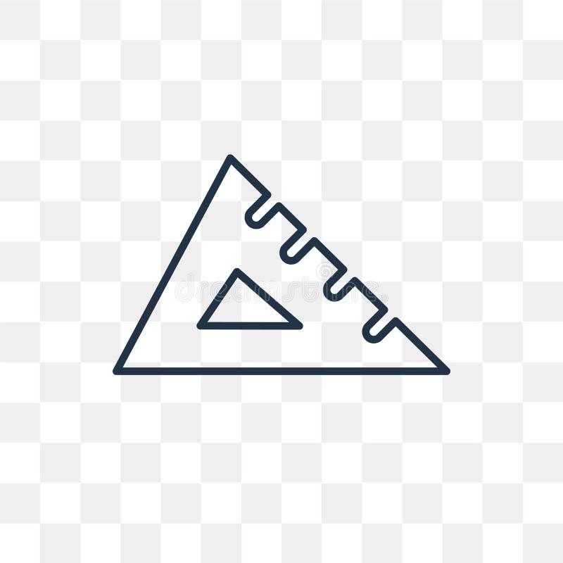 三角板在透明背景隔绝的传染媒介象,linea 向量例证