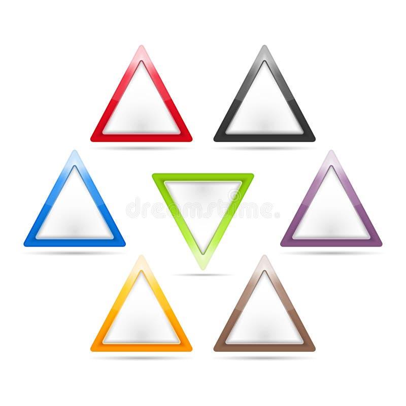 三角标志 皇族释放例证