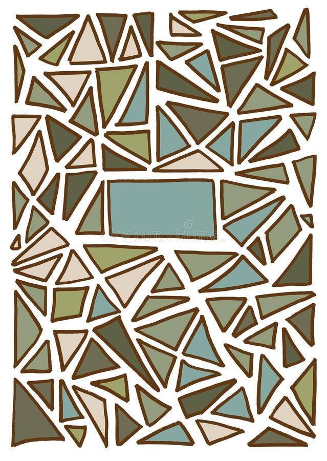 三角样式背景 手拉的向量例证 皇族释放例证
