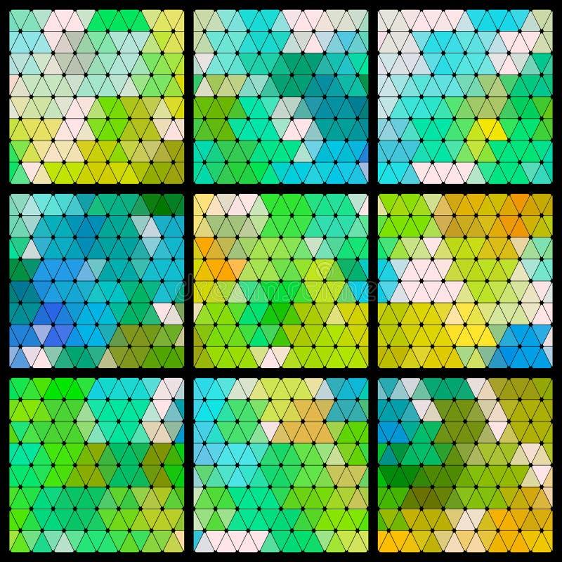 三角样式集合 库存例证