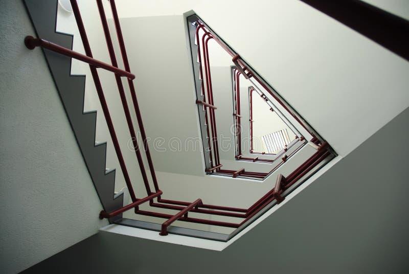三角楼梯 免版税库存照片